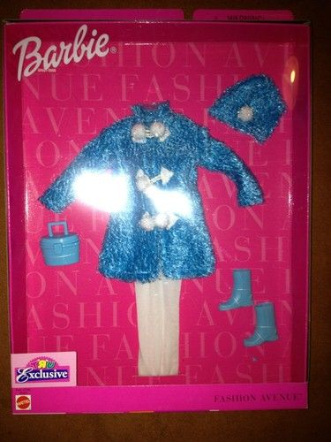Barbie Doll Fashion Avenue Blue Coat Collection Toys R US Boots Clothes Hat Styl | eBay