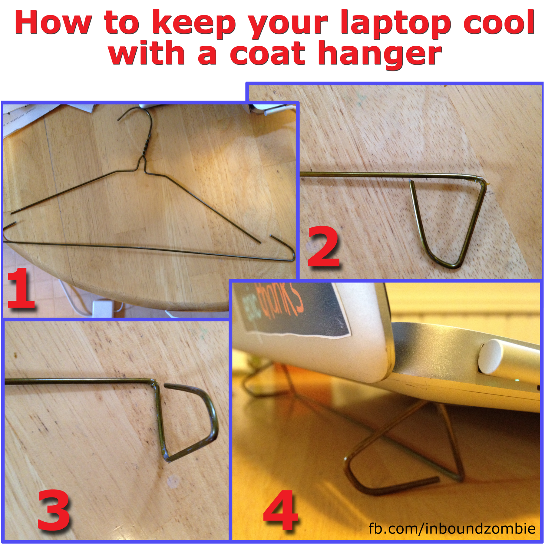 How to keep your laptop cool with a coat hanger