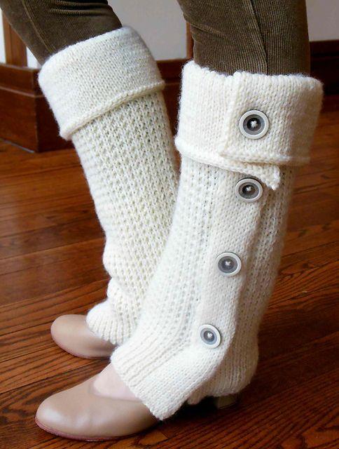 Free Pattern: Tout Boutonne Leg Warmers by Ashley Dale | Sock ...