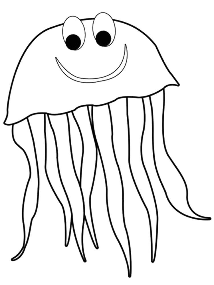 Jellyfish Coloring Page For Preschool Jellyfish Are Simple Living Things They Do Not Have The Brain Bones Lungs Coloring Pages Animal Coloring Pages Color