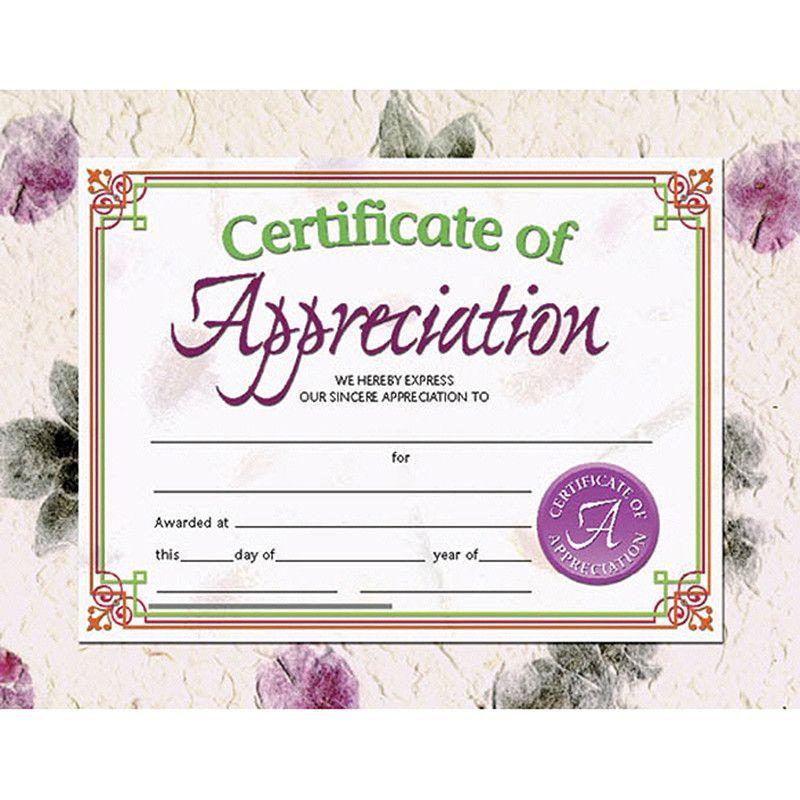 certificates of appreciation 30 pk awards and certificates