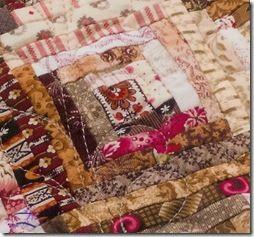 reprofab sm blks stun qlts blk | Log Cabin Quilts Close Up