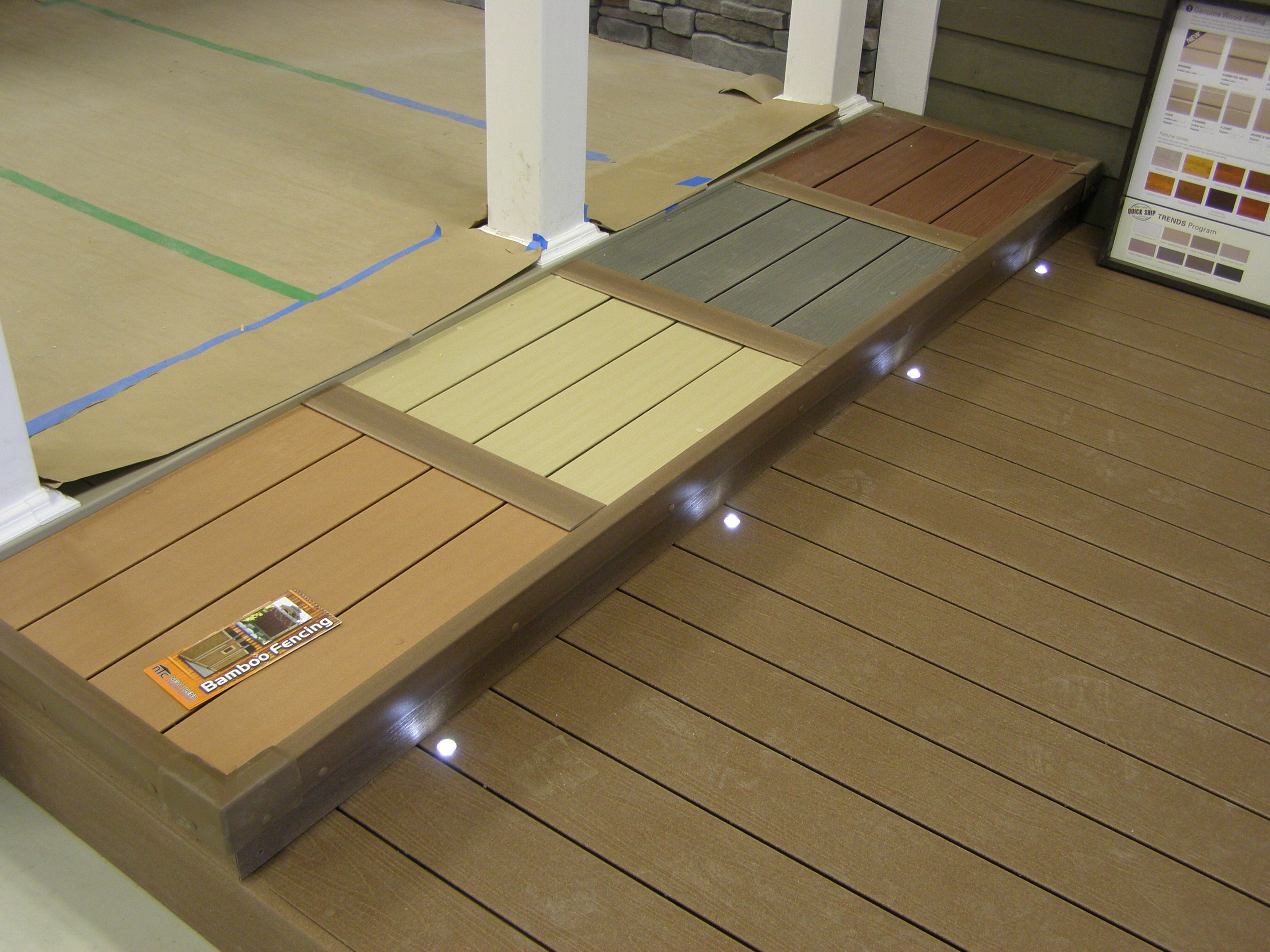 Canadian made trunorth composite decking hollow flat for Synthetic decking