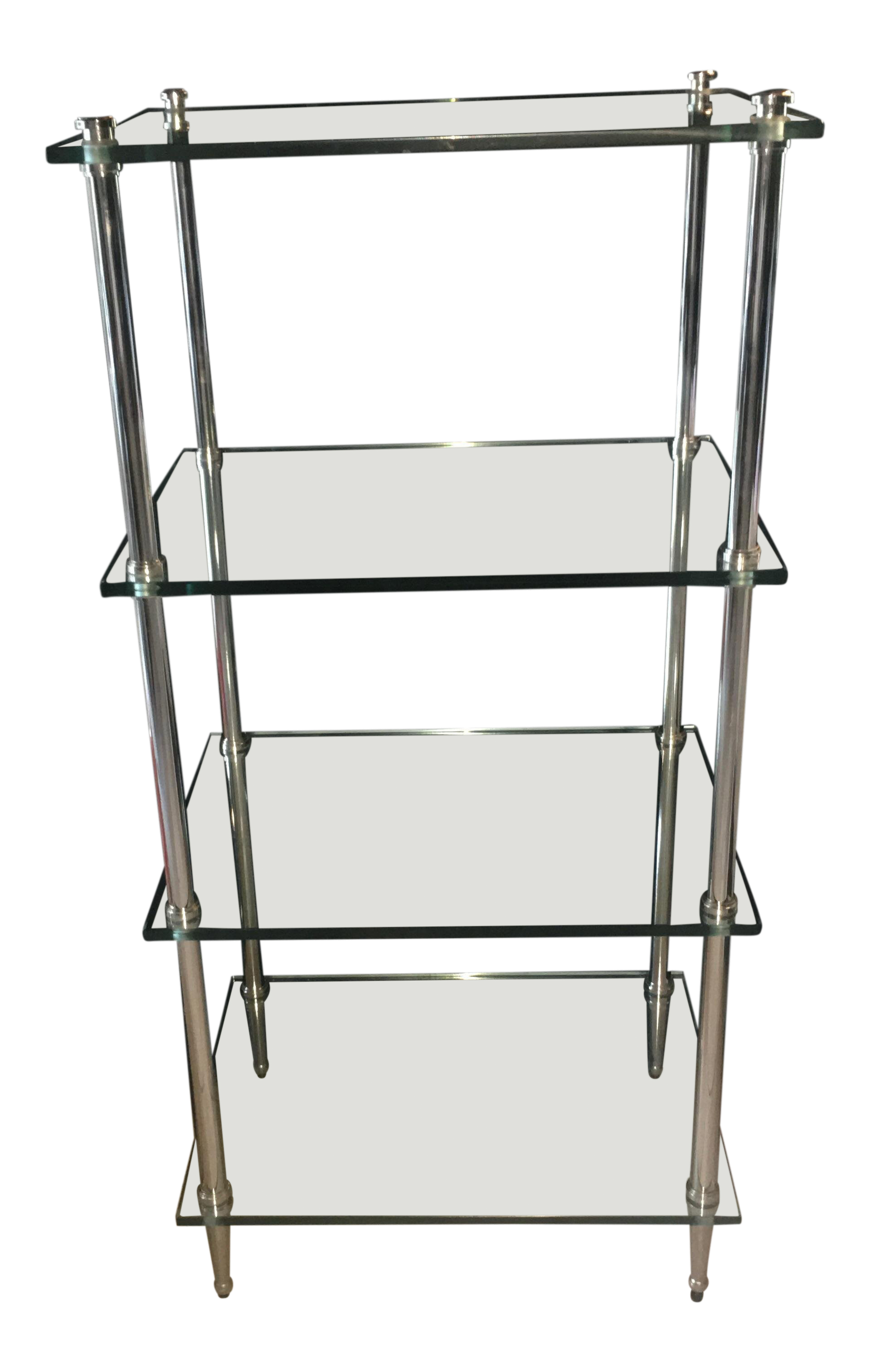 Excellent Mid Century Modern Thick Glass Chrome Shelves On Chairish Home Interior And Landscaping Ferensignezvosmurscom