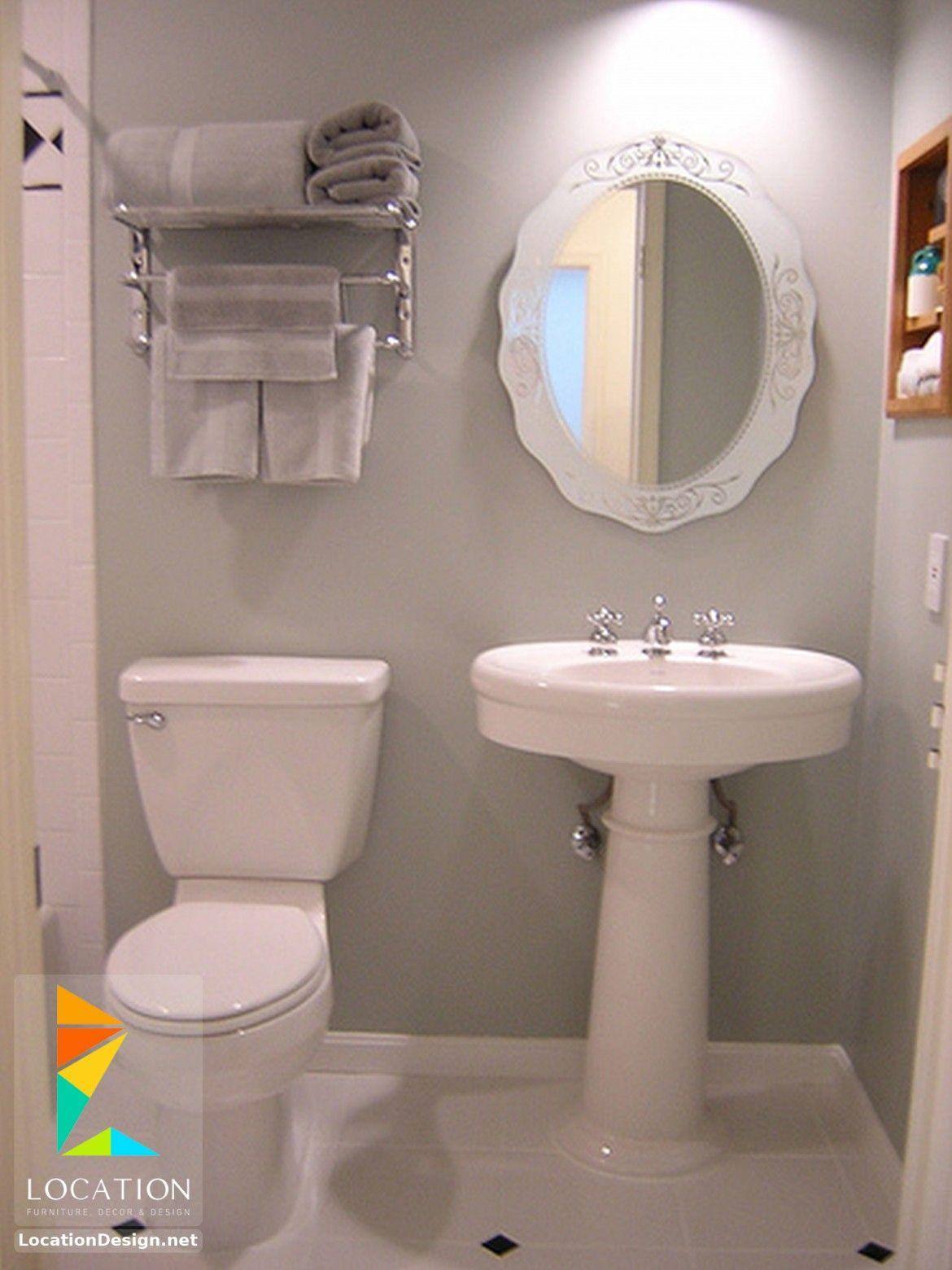 افكار و تصميمات حمامات مودرن صغيرة و بسيطة Small Bathroom Decor Bathroom Design Small Small Bathroom Diy