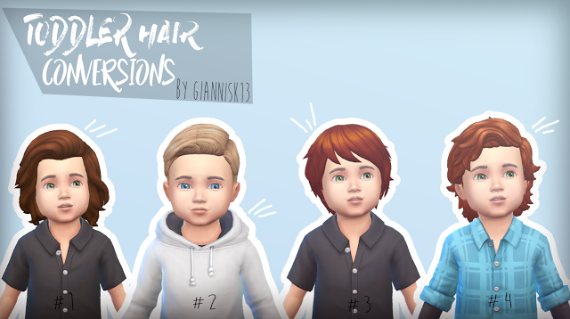 Sims 4 CC s The Best Toddler Hair Conversions by