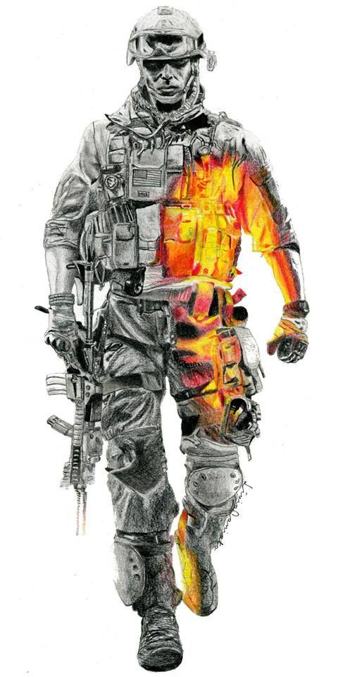 battlefield 3, realistic drawing