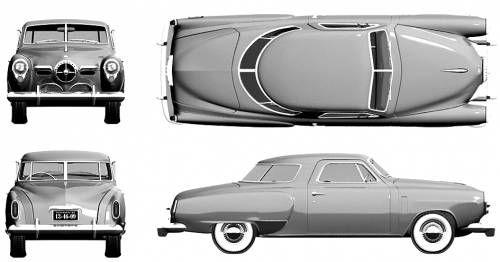 Blueprints Cars Studebaker Studebaker Starlight Coupe 1950 Studebaker Coupe Car Model