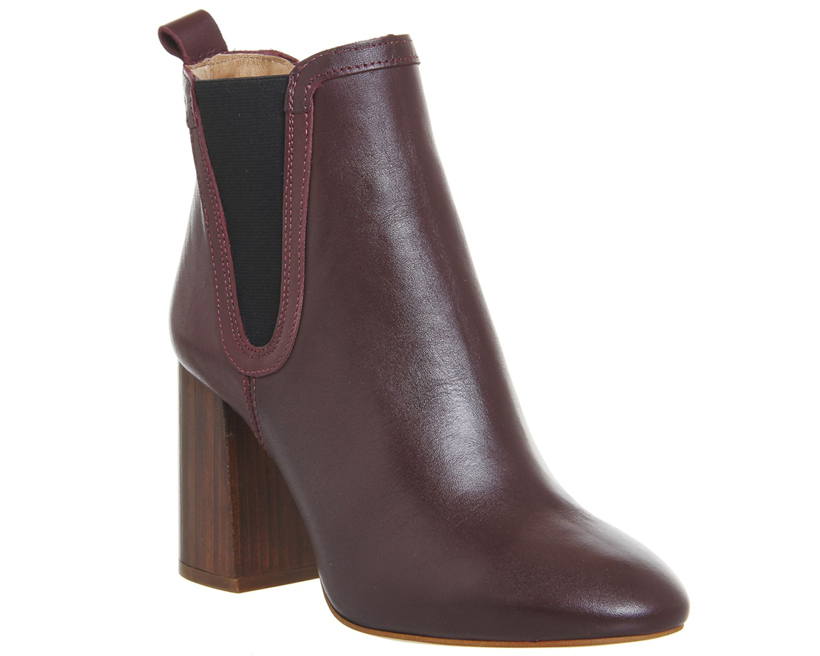 Burgundy Leather Office Lily Pad Chelsea Boots From Co Uk