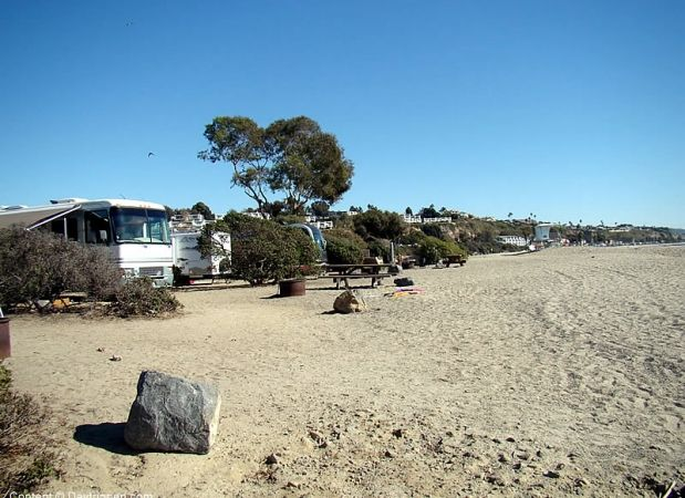 Rv Camping At Doheny Southern California Beach Park Parking Overlooking The