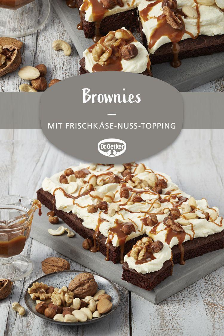 Brownies Mit Frischkase Nuss Topping Rezept Saftige Brownies Rezept Einfach Kostlich Und Backen