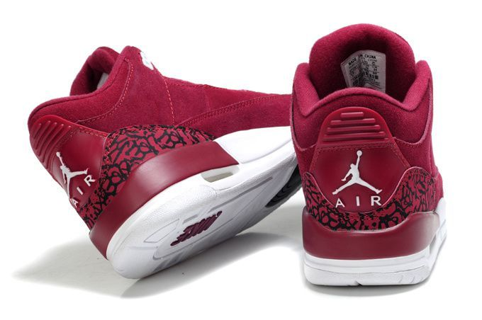 burgundy jordan shoes