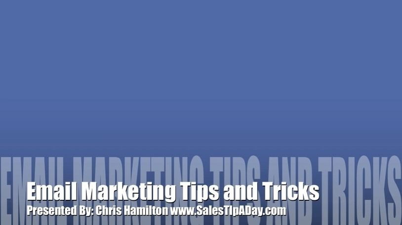Email Marketing Tips and Tricks   Sales Tip A Day