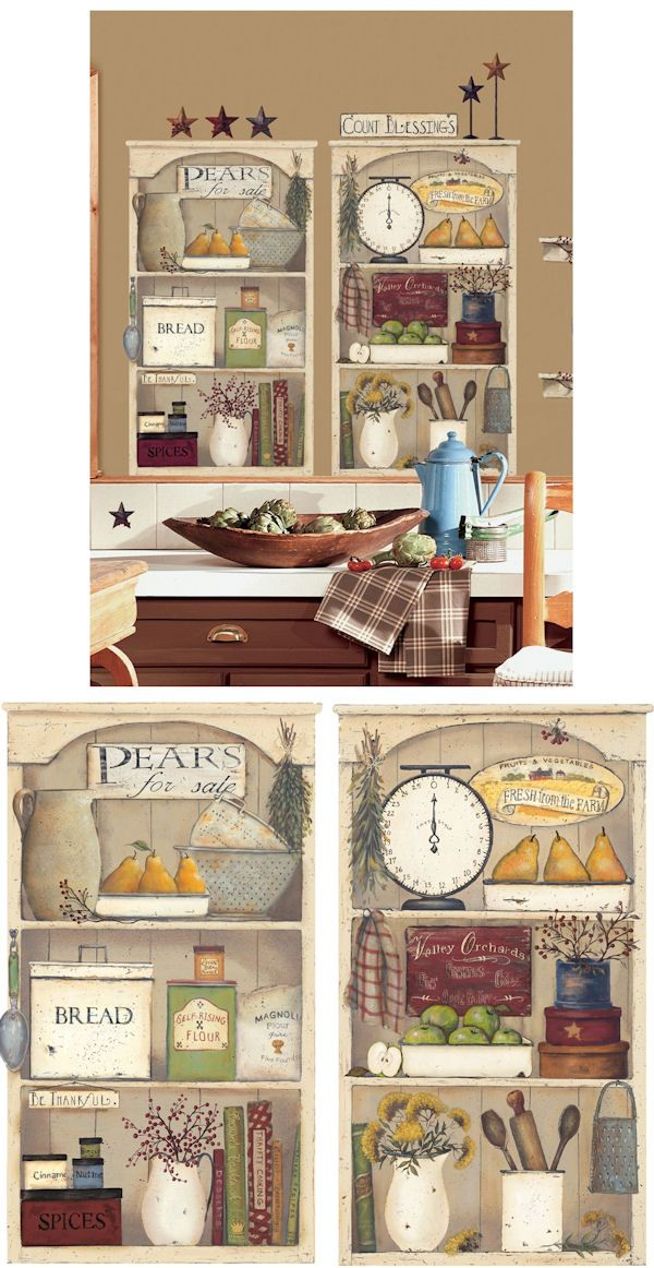 Country Kitchen Shelves Giant Wall Decals Wall Sticker Outlet