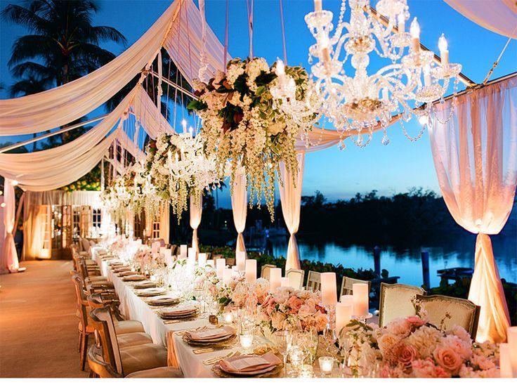 Glamorous Wedding Reception Table Intimate Itgirlweddings