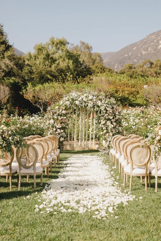 Floral Fairytale: This Ethereal Wedding At San Ysidro Ranch Will Sweep You Off Your Feet
