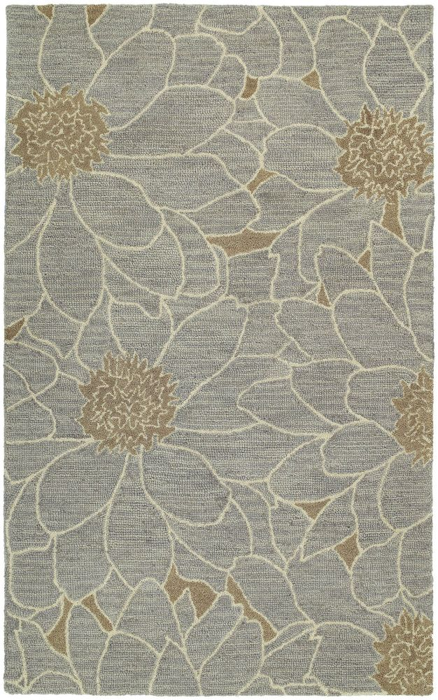 Rugstudio Presents Kaleen Carriage City Park Blue 17 Hand Tufted Good Quality Area Rug