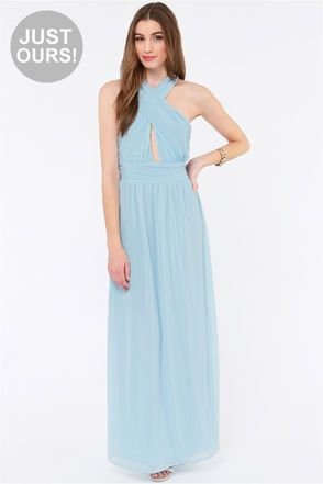 df58218453 LULUS Exclusive The Ethereal Deal Light Blue Maxi Dress at Lulus.com!