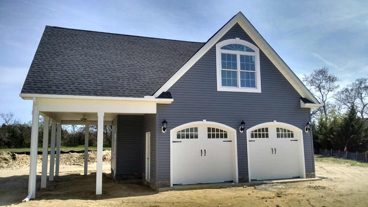 2 Car Detached Garage With Man Cave Above: Detached Garage With Bonus Room Above #baytobeach