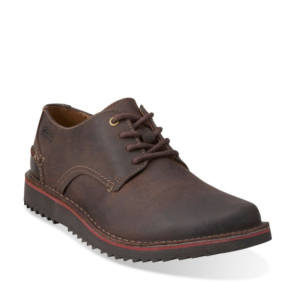 Remsen Limit Dark Brown Leather - Clarks Mens Shoes - Lace-ups and Slip-