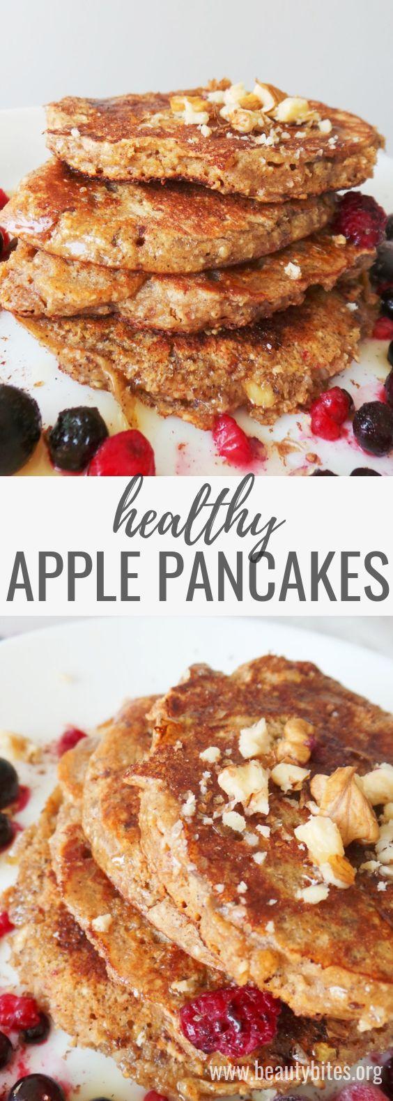Apple Pancakes With Oats - Healthy & Easy Breakfast Recipe - Beauty Bites #healthybreakfast