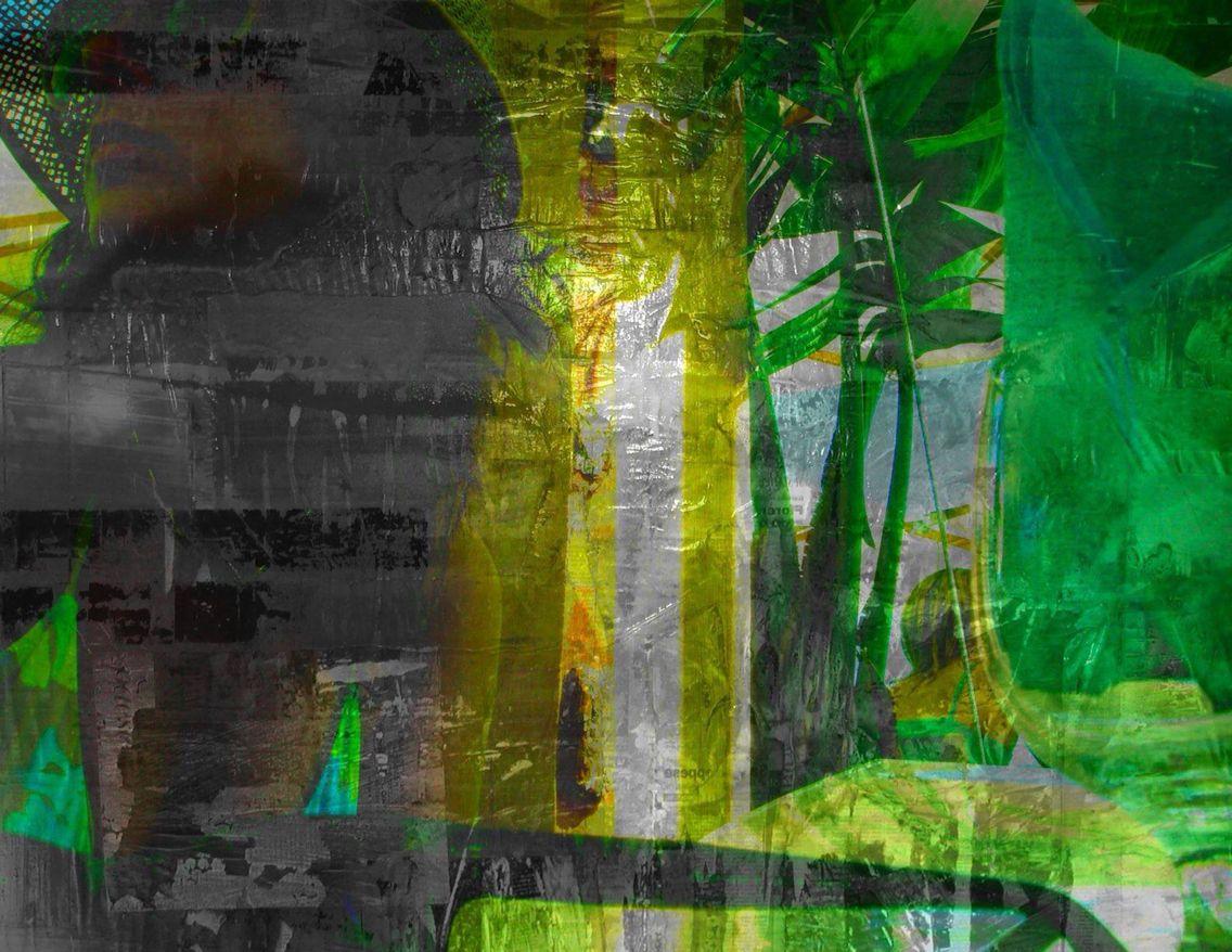 """OLIVIERO PAGLIAROLI  """"Virginia"""" - 2010 Stampa su carta fotografica trattata con acidi e scotch adesivo, 230x250 cm"""