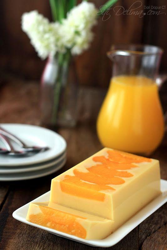 Milky Peach Pudding #dessert