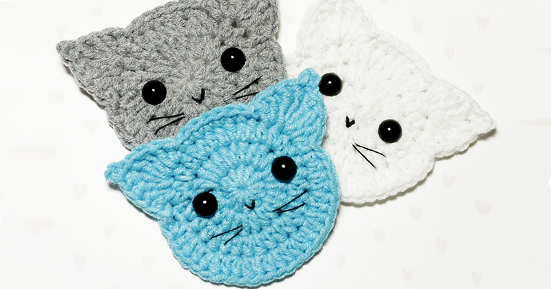 Crocheting a Simple and Very Nice Cat Applique