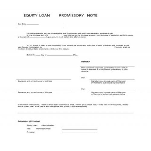 50 FREE Useful Promissory Note Templates