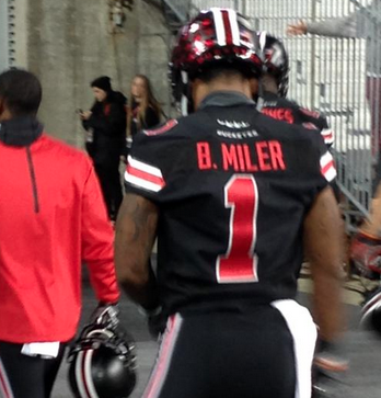 pretty nice 7a661 46042 Photo: Braxton Miller's Name Is Spelled Wrong On His New ...