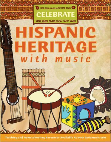 List Of FREE Music Resources For Hispanic Heritage Month Including Craft Activities And Coloring Pages