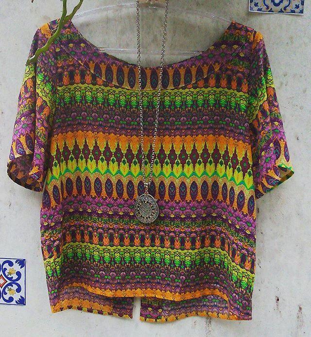 Linda blusa soltinha para o verão! Preço especial!!! #blusaestampada #blusa #moda. #modafeminina #modaboho #verão16 #liberté #libertemodafeminina #boho