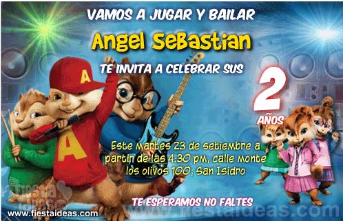 Invitaciones De Cumpleaños Gratis Las Mas Lindas 2019 Ardillas Invitaciones De Cumpleaños Gratis Chipmunks