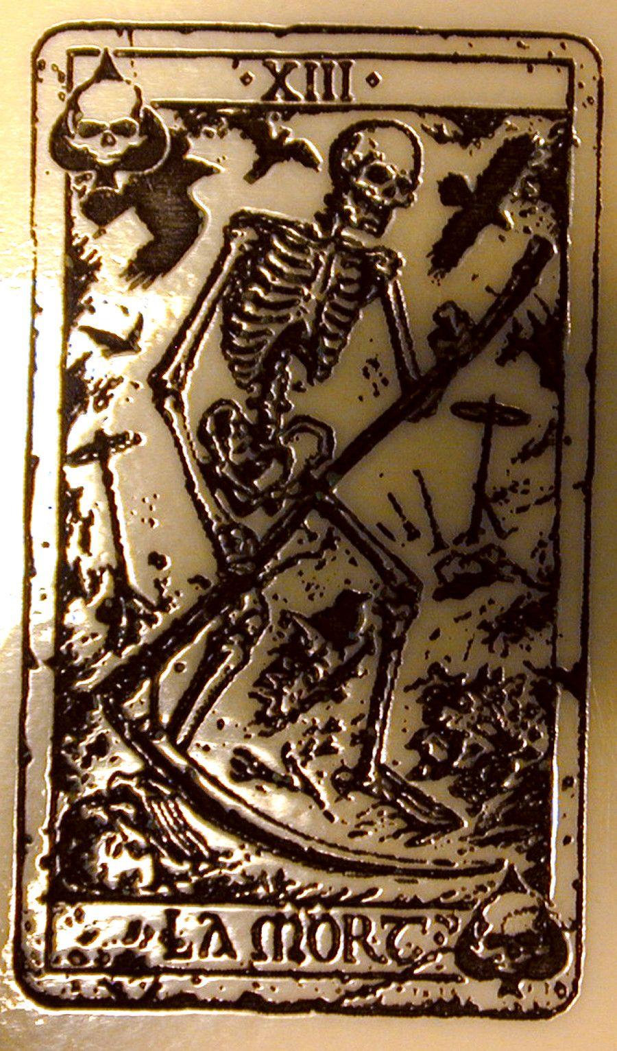 SOA On Flag Death Card Ace Of Spades Tarot Death Card