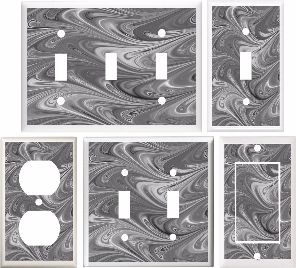 Marble Abstract Gray Image Home Decor Light Switch Cover Plate Or Outlet V840 Hom Decorative Light Switch Covers Light Switch Plate Cover Light Switch Covers