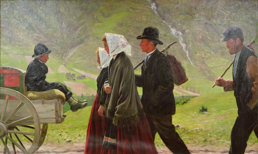 19th Century Norwegian Emigration To The U S Scandinavian Art Norway Nordic