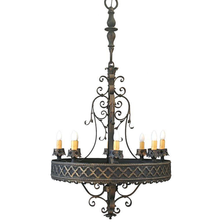 Spanish Chandelier: Gothic Revival Lighting | Large Scale Spanish Revival/Gothic Flavored  Chandelier,Lighting
