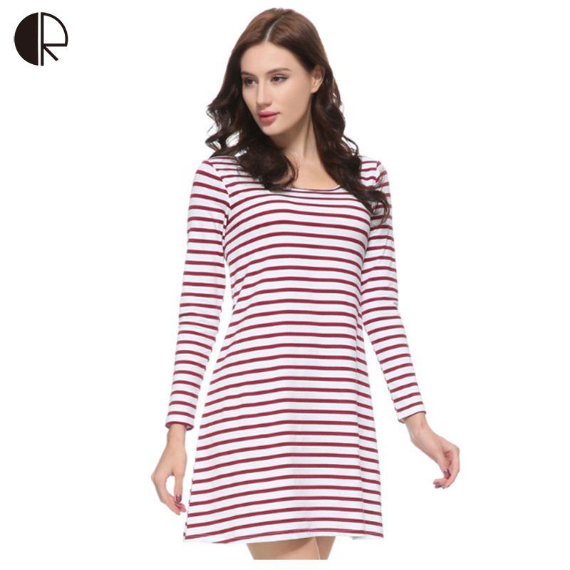 4a92f2b9fc Women s Nightgown 100% Cotton Sleepwear Bust Padded Dress Plus Big Size  Full Sleeve Striped Lounge