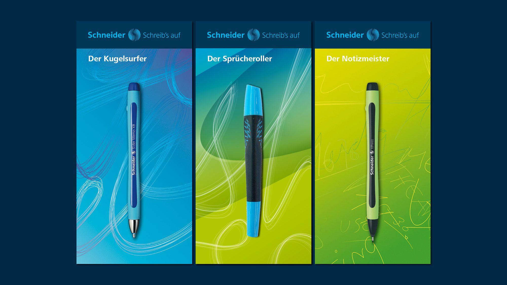 Corporate Design Schneider Schreibgeräte | KMS TEAM München