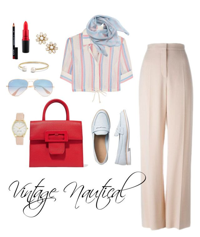 """Vintage Nautical"" by sewarren04 on Polyvore featuring Solid & Striped, STELLA McCARTNEY, Gap, Maison Margiela, Ray-Ban, Nine West, Alexander McQueen, Kate Spade, David Yurman and MAC Cosmetics"