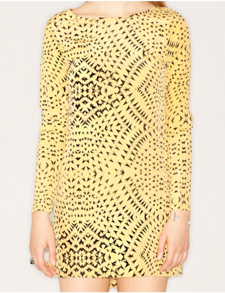 Arrow print silk dress - $274.00 : Pixie Market