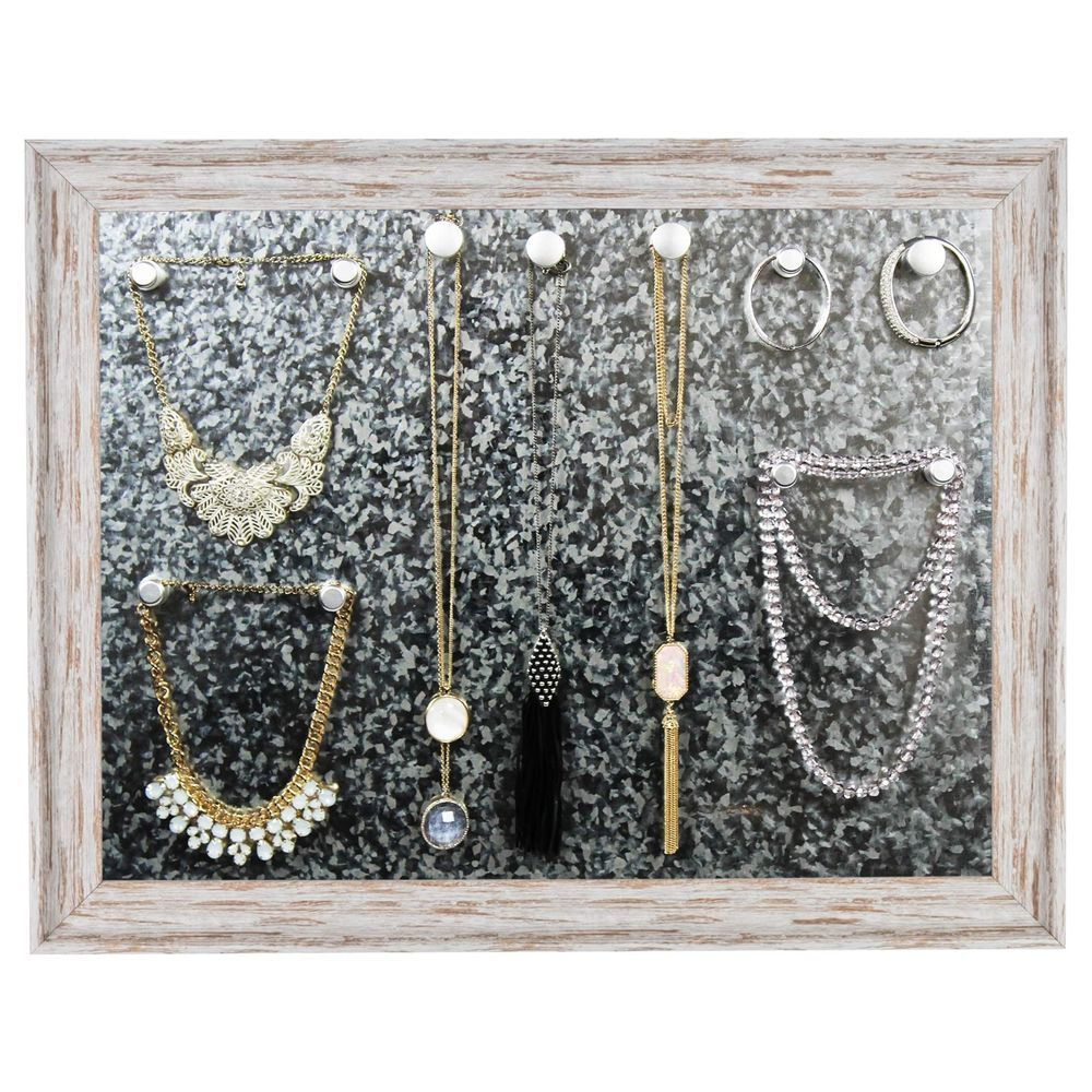 Jewelry Organizer with Wall Mount Display Large Magnetic Bulletin
