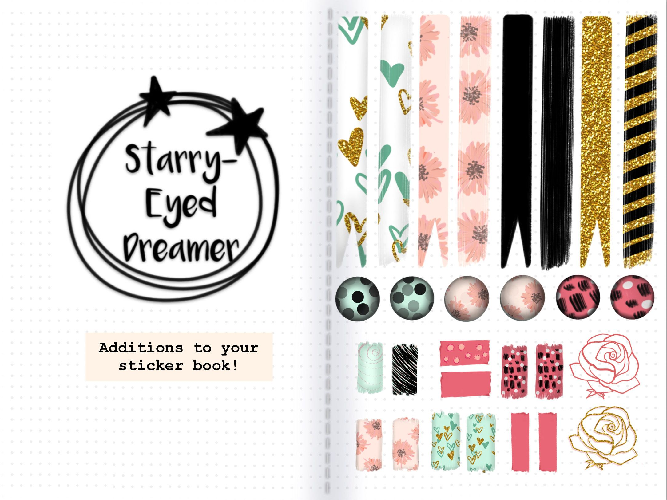 Garden DECO-planner//Diary//scrapbooking stickers-Main DRAWN-Glossypaper