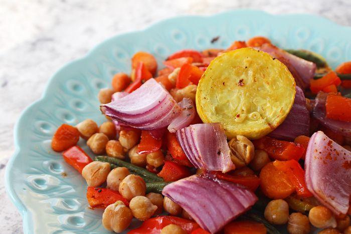Vegan Roasted Rainbow Veggies Recipe Vegan Recipes Vegan