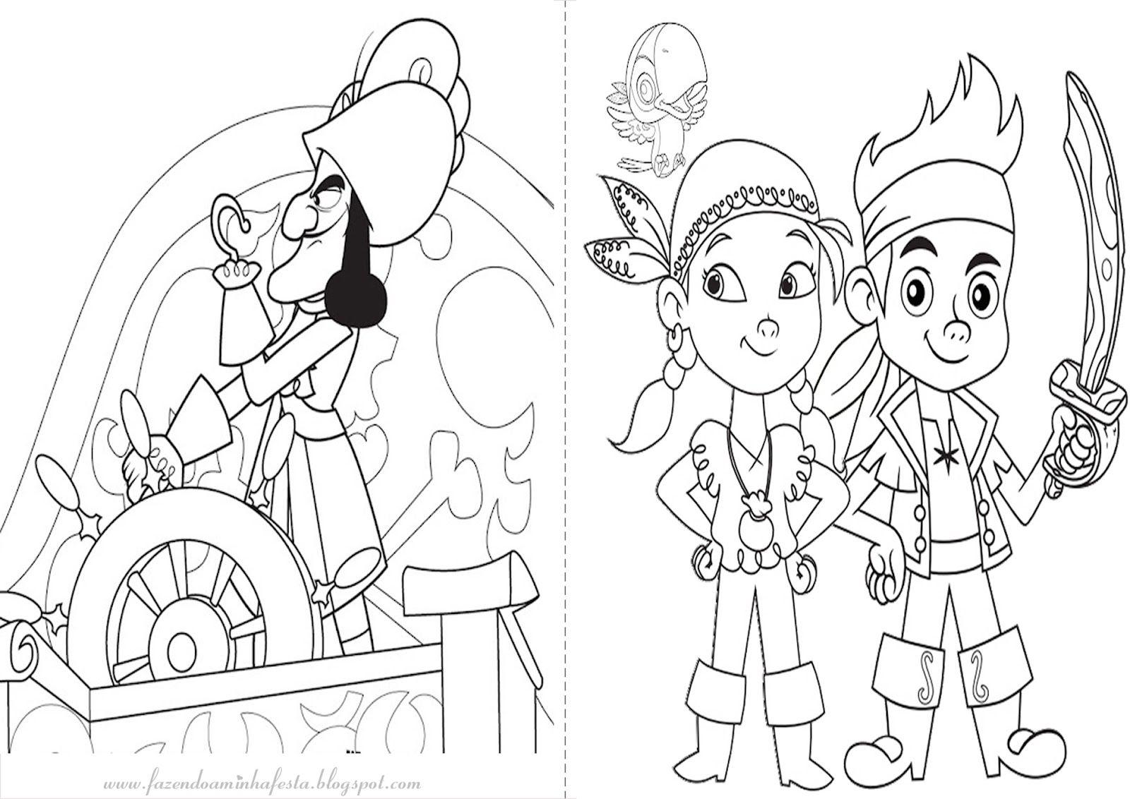 Fazendo a Nossa Festa - Colorir: Jake e os Piratas da Terra do Nunca ...