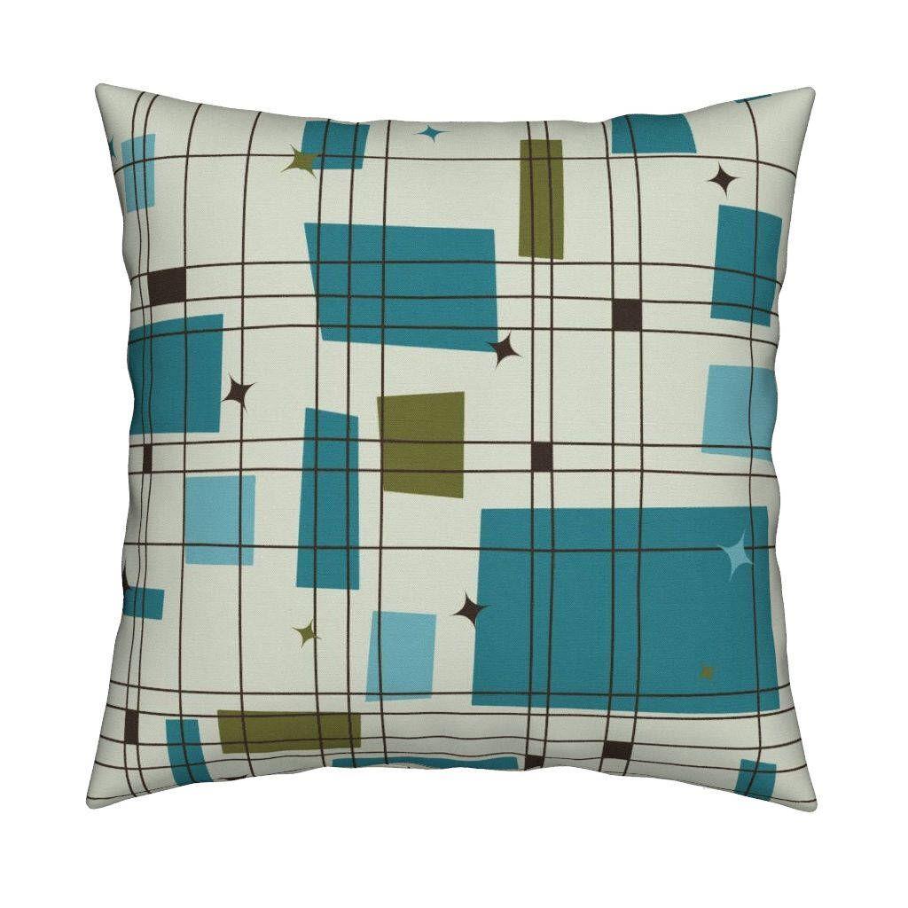 Mid Century Modern Pillow - Mid-Century Modern - Grid ...