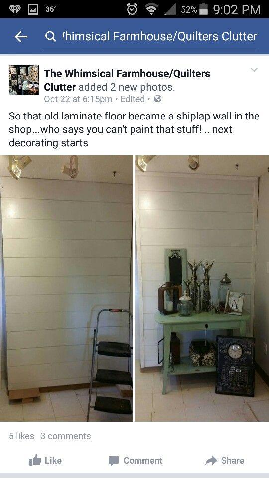 Shiplap Using Laminate Flooring Bathroom Pinterest Wainscoting