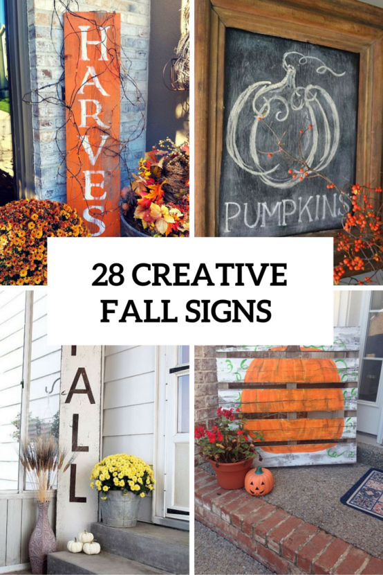 28 Creative And Cute Fall Signs To Welcome Autumn Fall