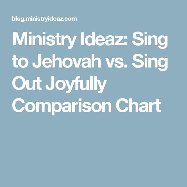 Ministry Ideaz: Sing to Jehovah vs. Sing Out Joyfully Comparison Chart