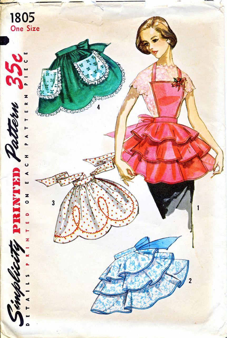 Vintage 1956 Cocktail Apron Pattern